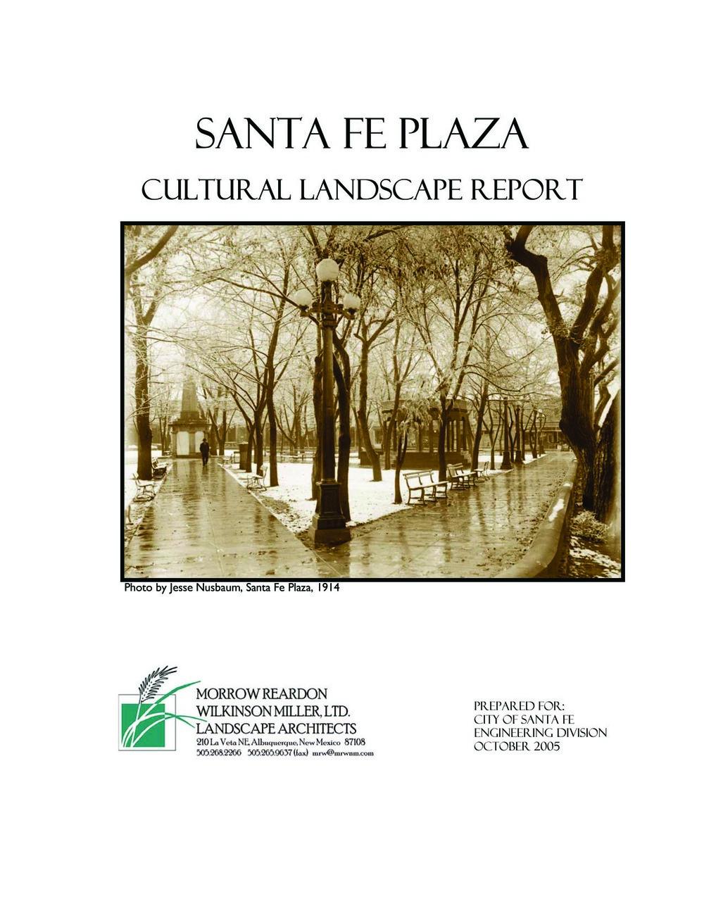 Santa Fe Plaza Cultural Landscape Report