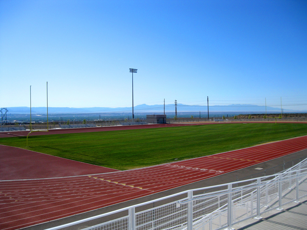 Athletic field next to the APS stadium