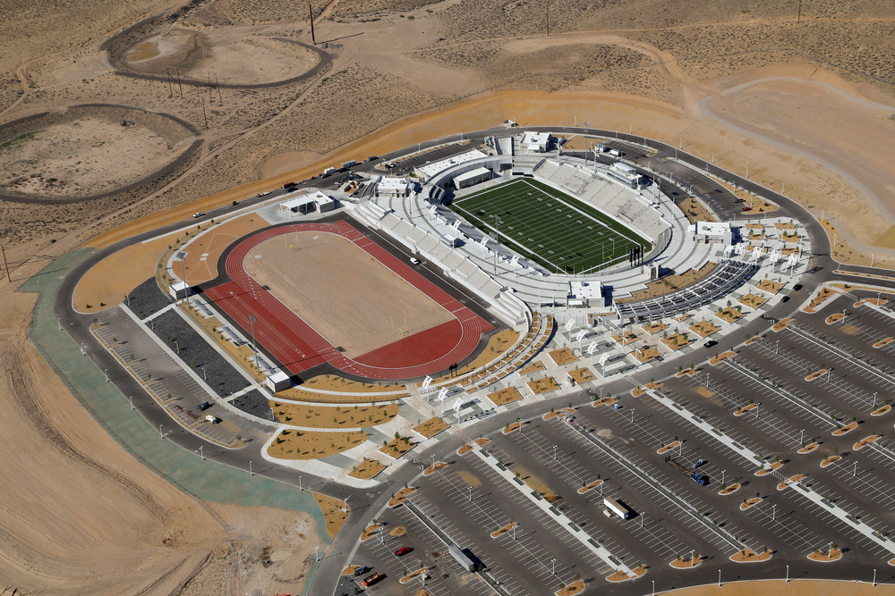 Aerial view of the APS stadium complex