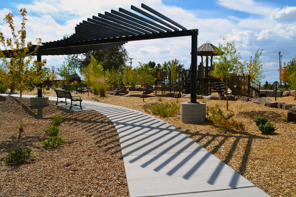 4 Four Hills Village Park, Albuquerque NM -  striking shade structure design