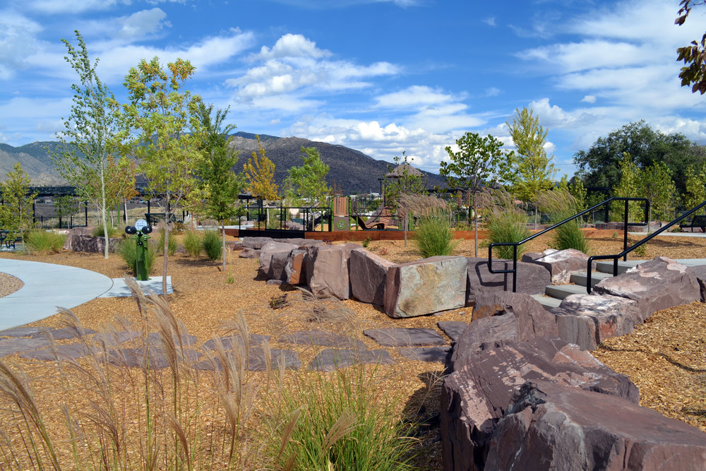 4 Four Hills Village Park, Albuquerque NM -  natural stone features - and no turf!