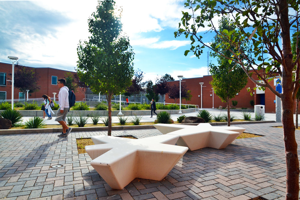 CNM 'A' Building Courtyard -
