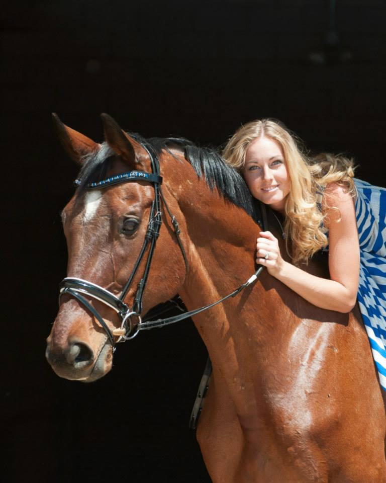 Sarah Hepfner and horsey partner Montego