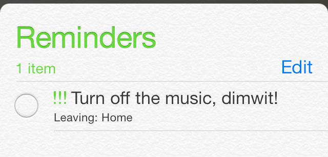 iOS Reminder