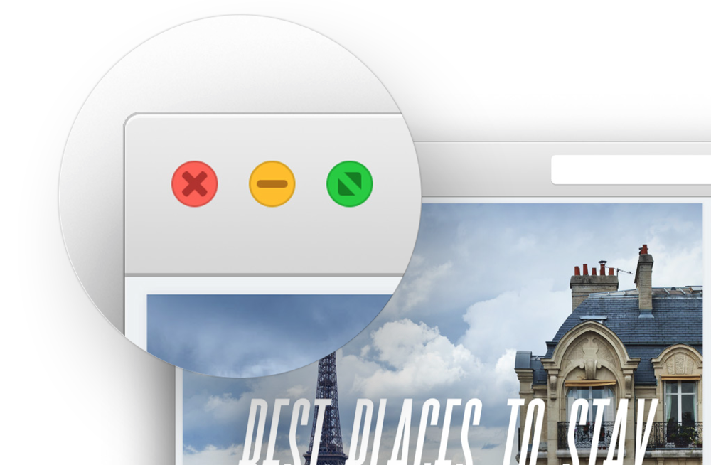 Yosemite window controls