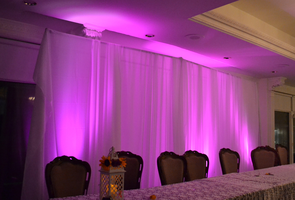 Pipe and drape wedding back-drop