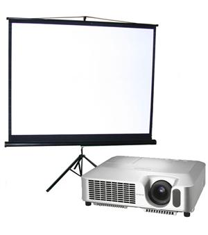 • Typically includes a projector, speaker, laptop, screen and wireless microphone.