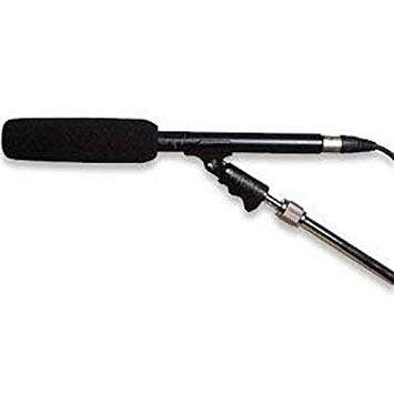 Shotgun on a Boom Microphone