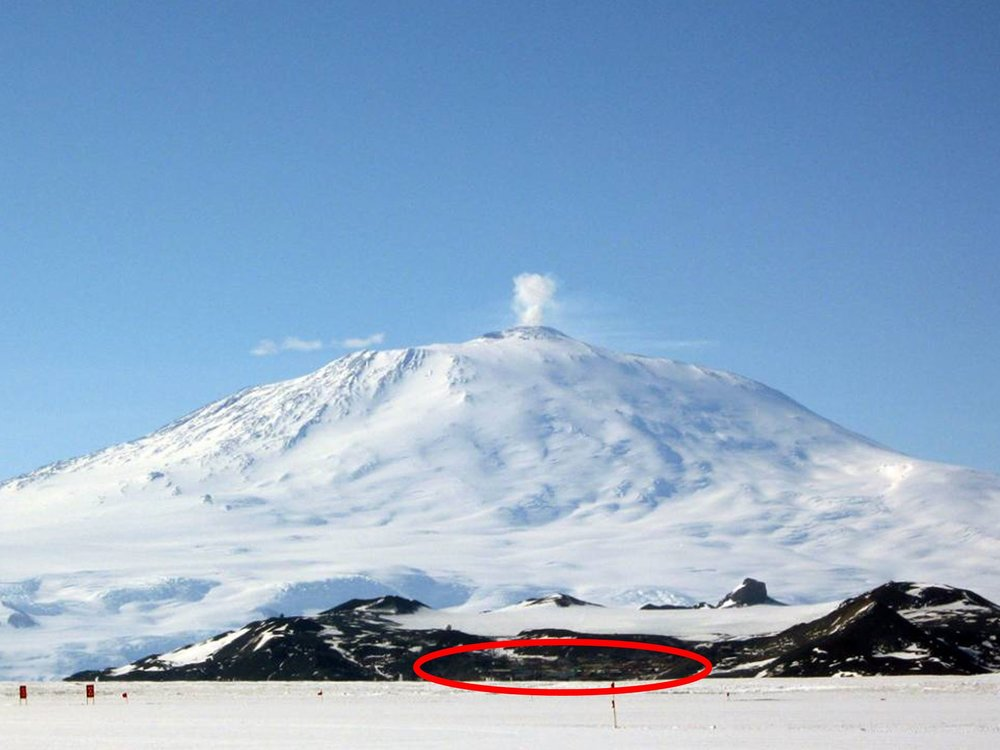 Home base: next to the southern-most active volcano in the world, Mt. Erebus. To view other sights, click on slide show below...