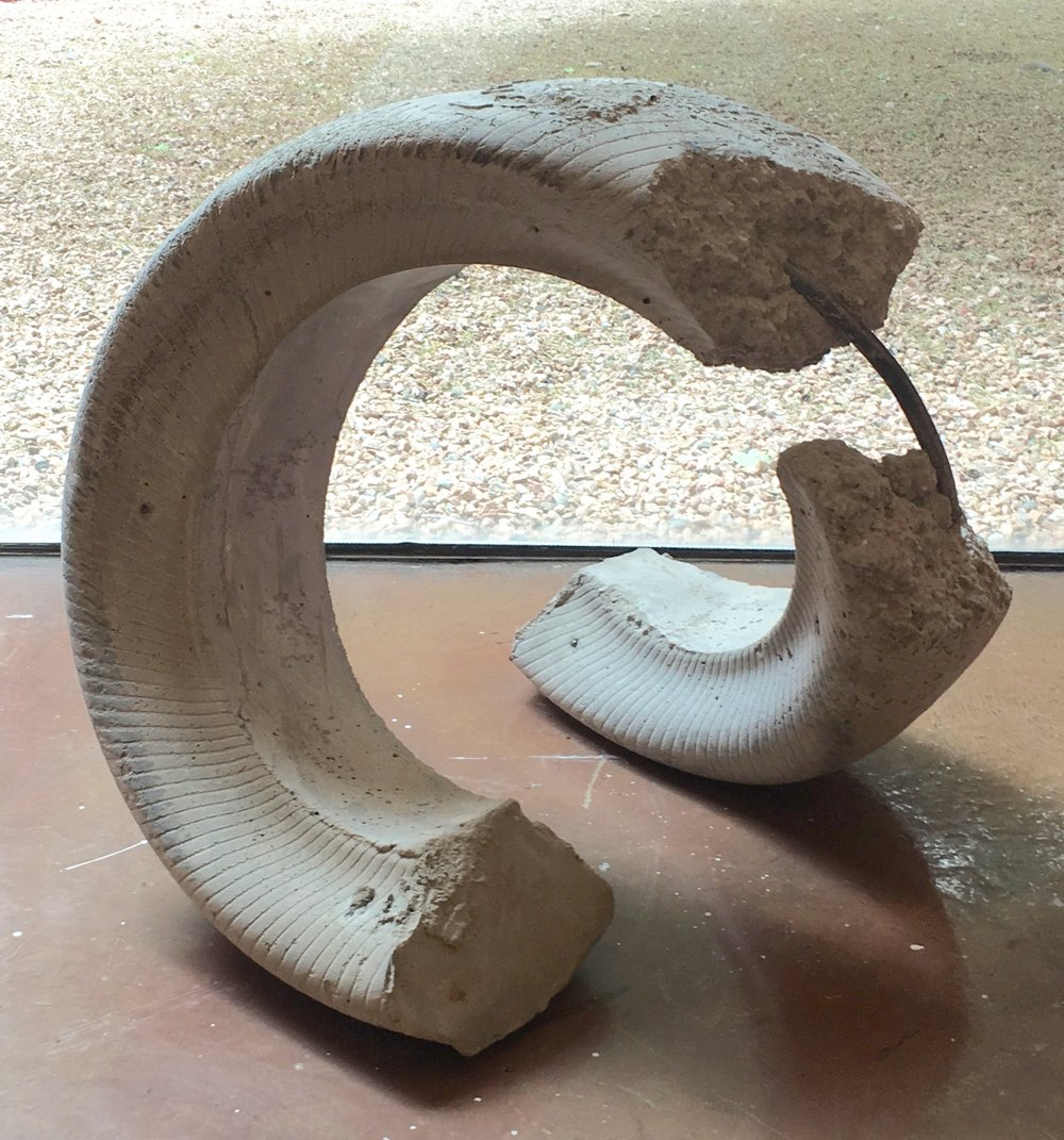 Sam Ripoll, Casting for Meaning, Fall 2015, Inside out project, concrete, steel