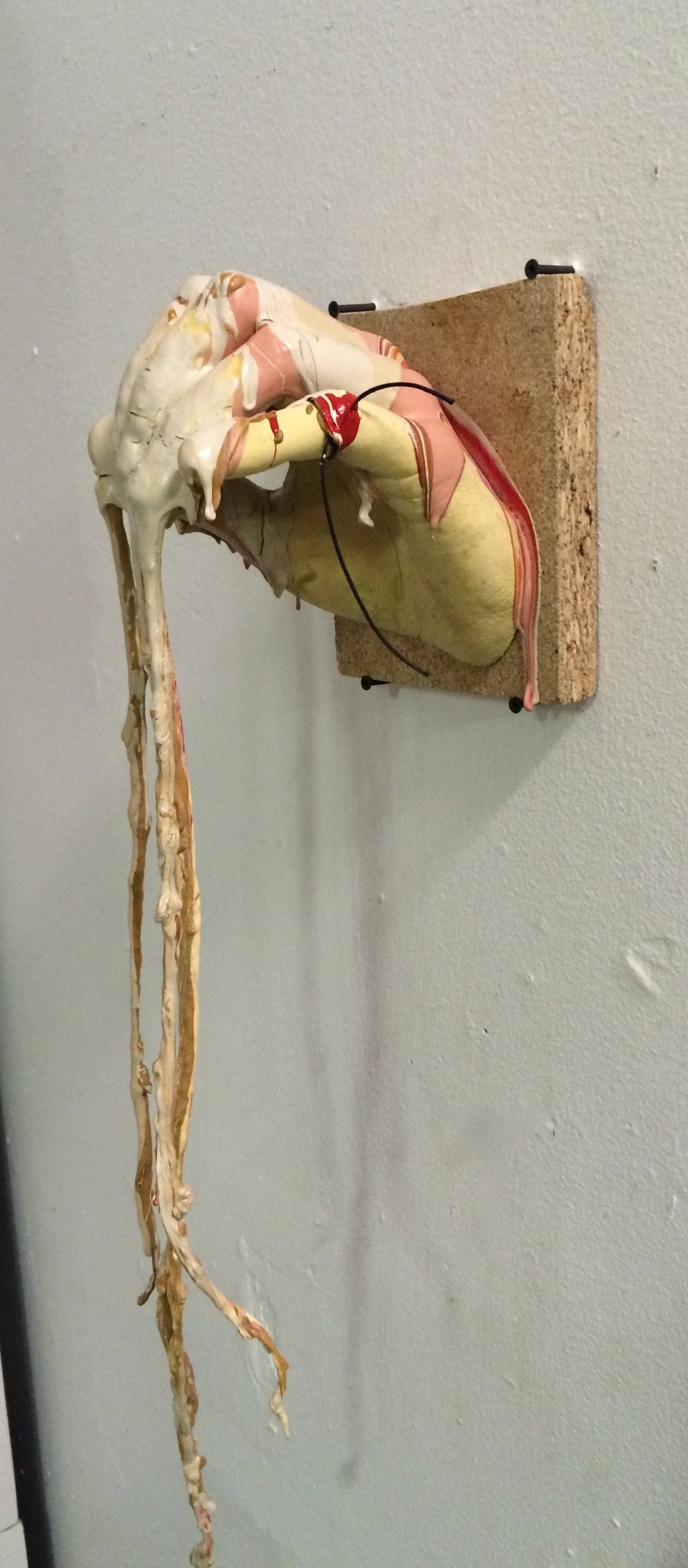 Garret Koch, Casting for Meaning, Fall 2015, Life-casting project, plaster, paint, string