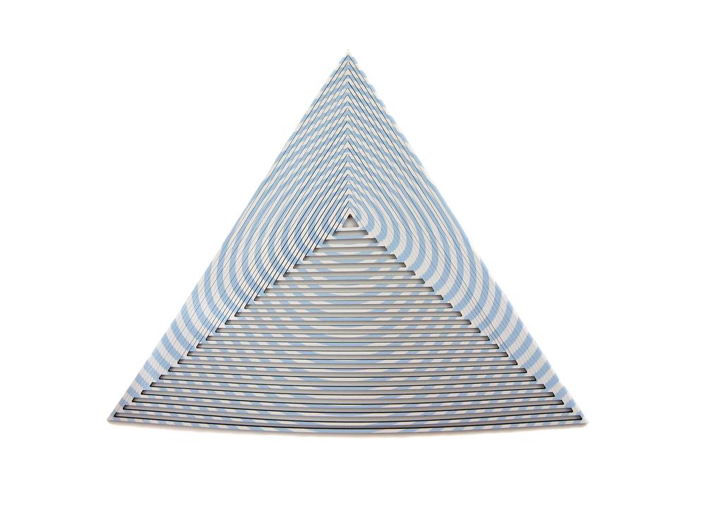 """Isosceles Target 2 , 2010, vinyl on PVC, 45"""" x 35"""" x .5"""""""