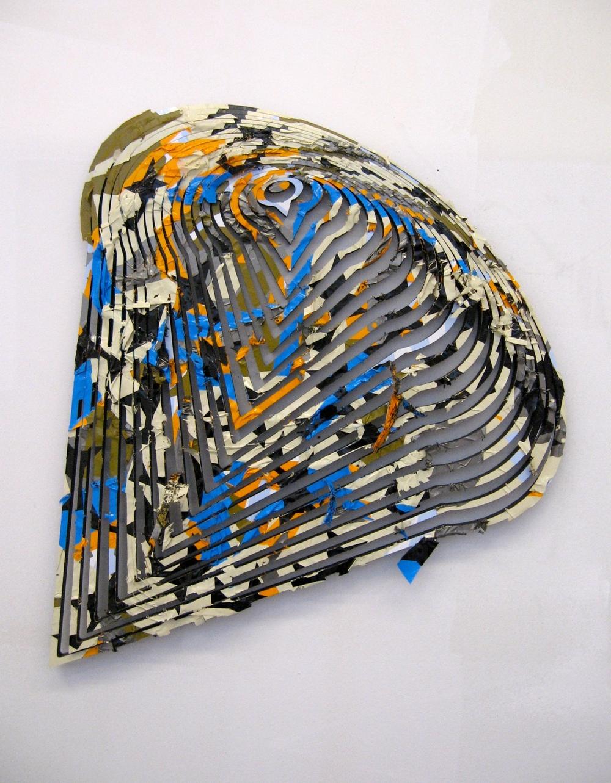 """Untitled, 2011, vinyl on PVC, 14"""" x 13"""" x .5"""""""