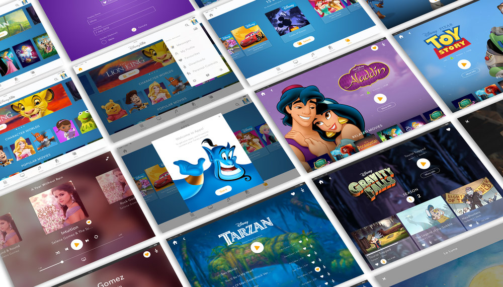 Project overview of DisneyLife, Disney's new digital subscription including Movies, TV Shows, Music, Books and Apps.
