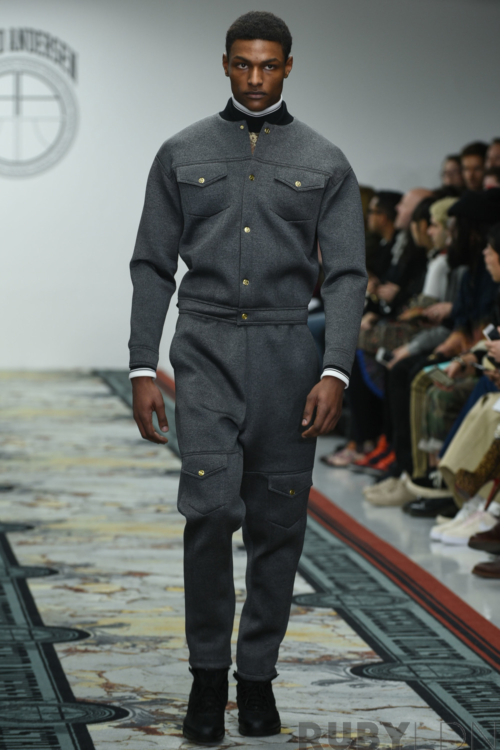 Models sport Astrid Anderson's latest collection for London Collections Men AW 16