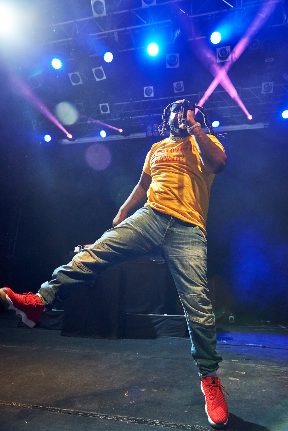 To time Grammy award winner T-Pain, an American singer, rapper songwriter and record producer performs at Koko Camden London, United Kingdom on June 15th 2018. The warm up acts were The Compozers an instrumental band and grime artist FLOHIO.