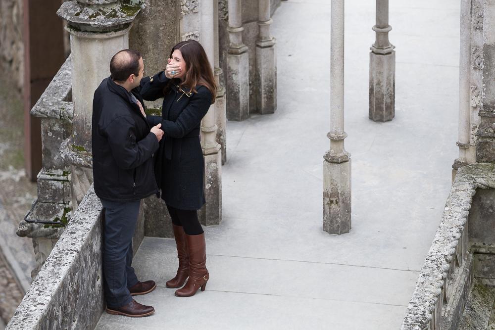 Surprise proposal in Lisbon, Portugal. Destination vacation photographer
