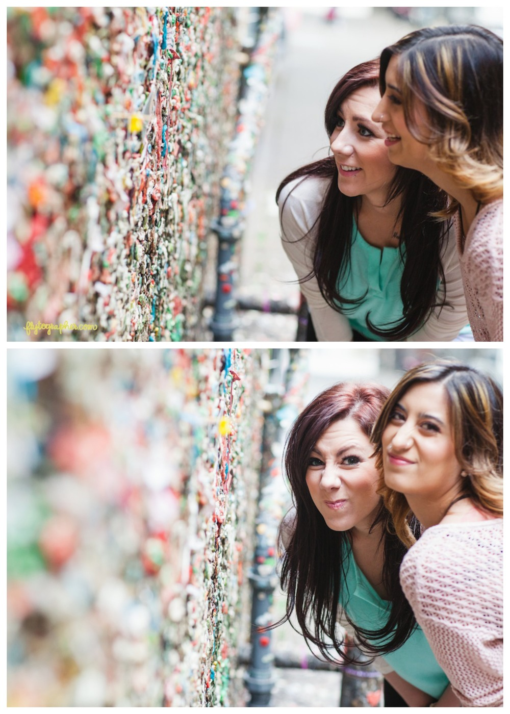 The Gum Wall in Pike Place Market. Verdict? Not so appetizing...