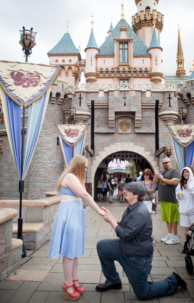 Surprise Proposal at Disneyland