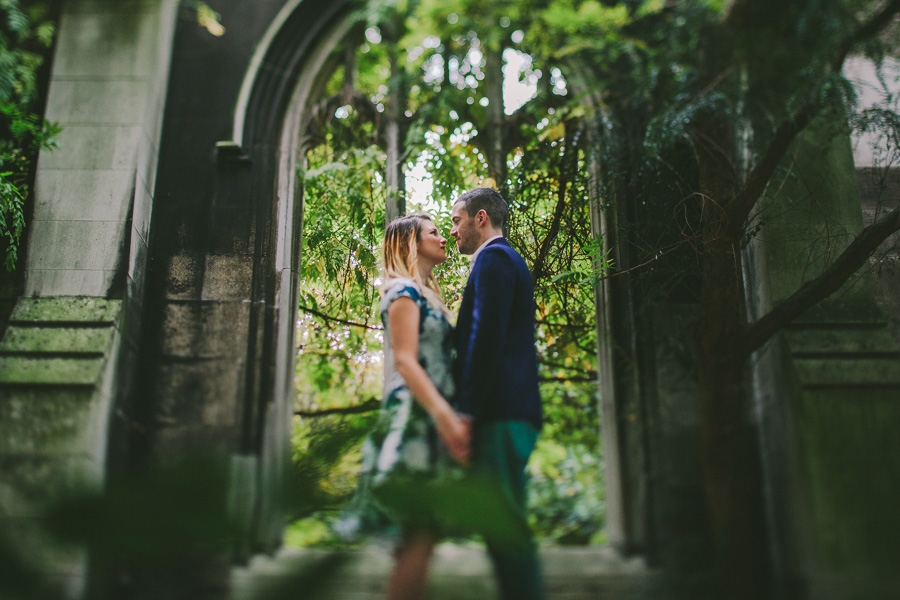 BEN & KIRSTIE CELEBRATING THEIR ENGAGEMENT AT ST DUNSTAN IN THE EAST