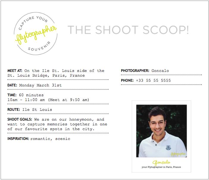 Flytographer - Example Shoot Scoop