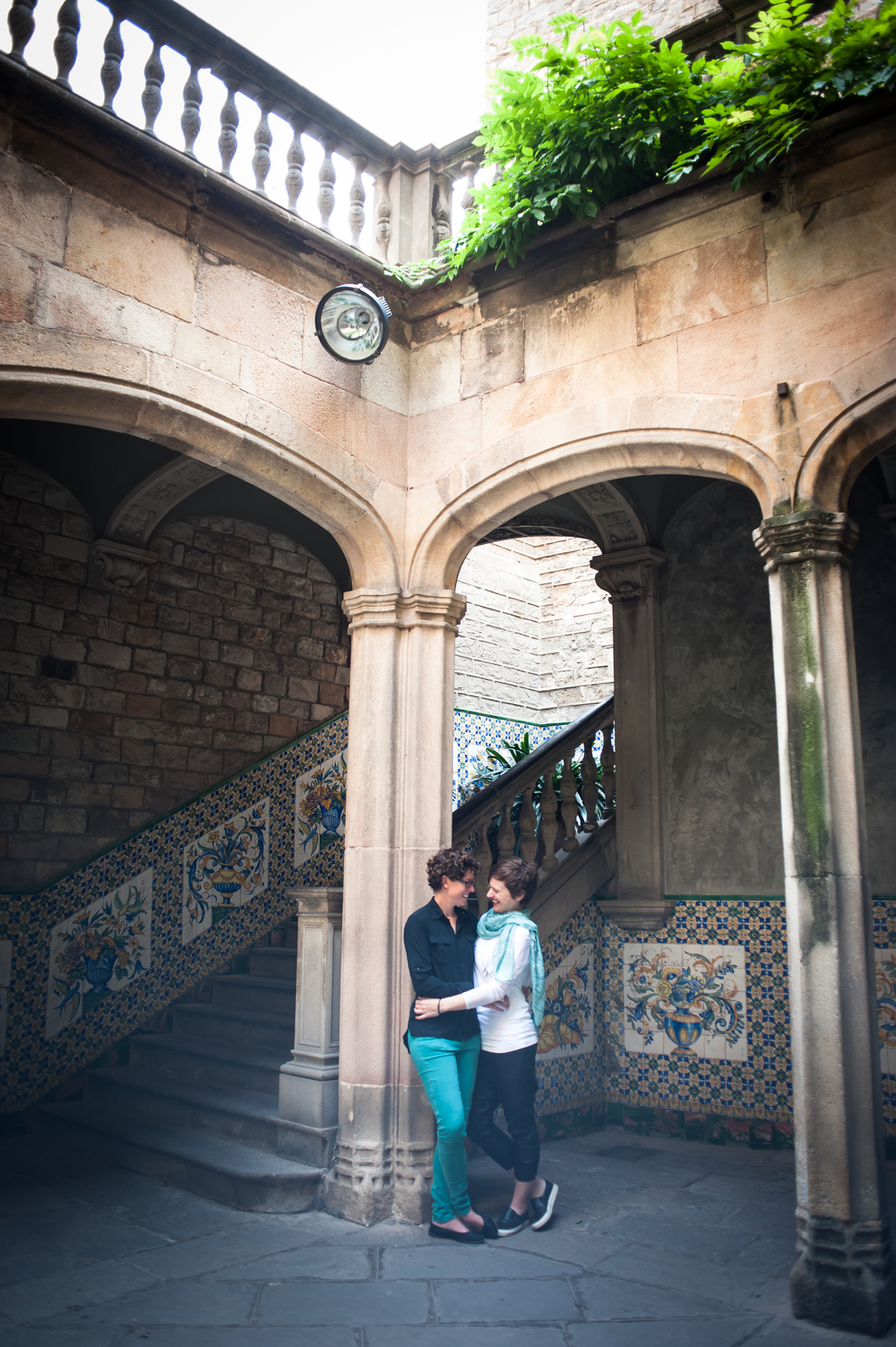 LGBTQ couple celebrating birthday in Barcelona with surprise photo shoot