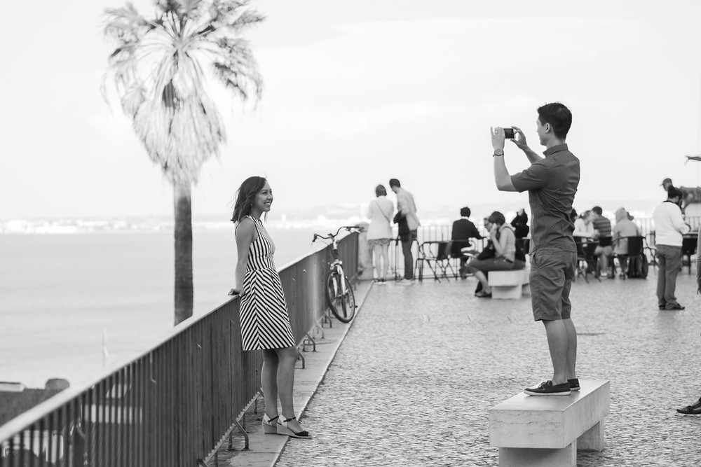 GQ trippin travel bloggers in Lisbon with Flytographer