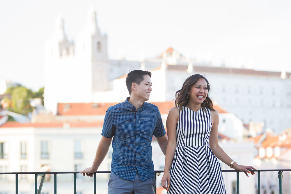 couple exploring Lisbon