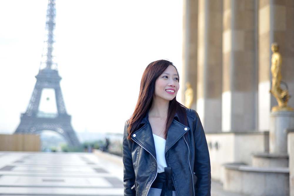 solo shoot in Paris with Eiffel Tower