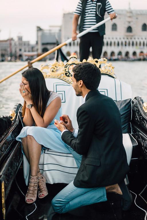 emotional surprise proposal in venice Flytographer