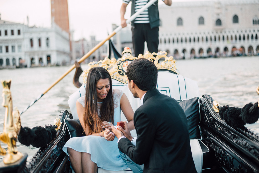 proposal on gondola in Venice