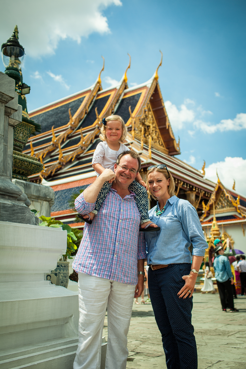 family exploring Bangkok