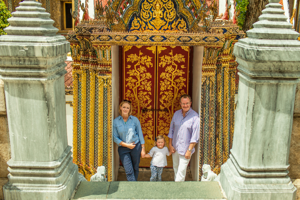 Family exploring bangkok Thailand
