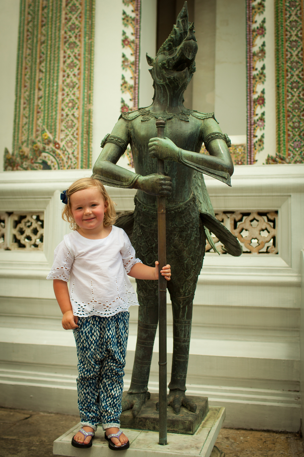 Little girl exploring Bangkok