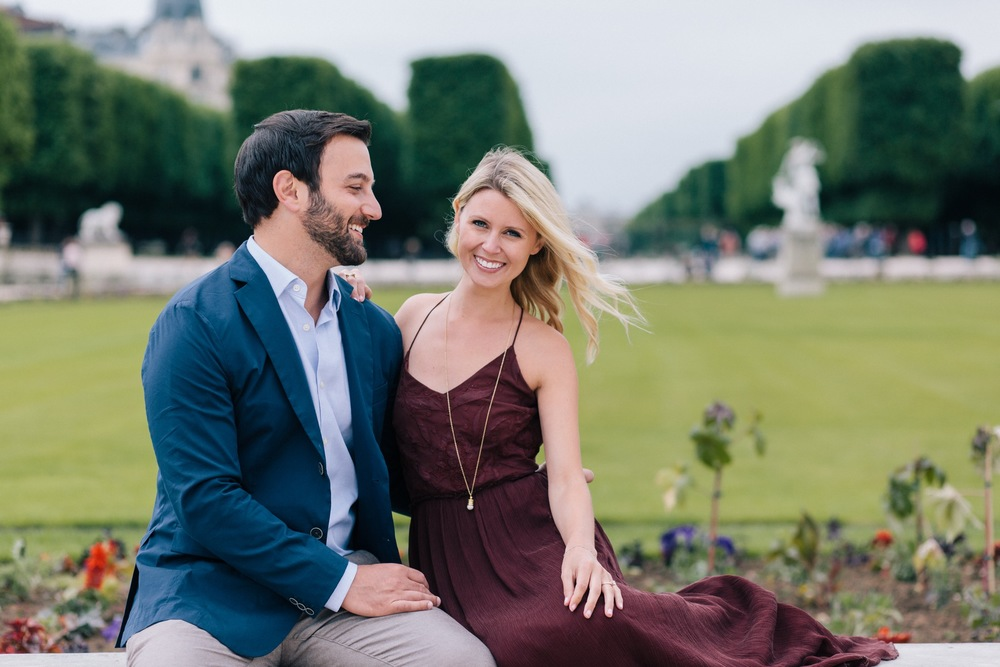 Jardin du Luxembourg Romantic Surprise Proposal Paris
