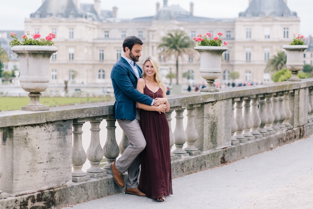 Jardin du Luxembourg Proposal Romantic Couple Paris