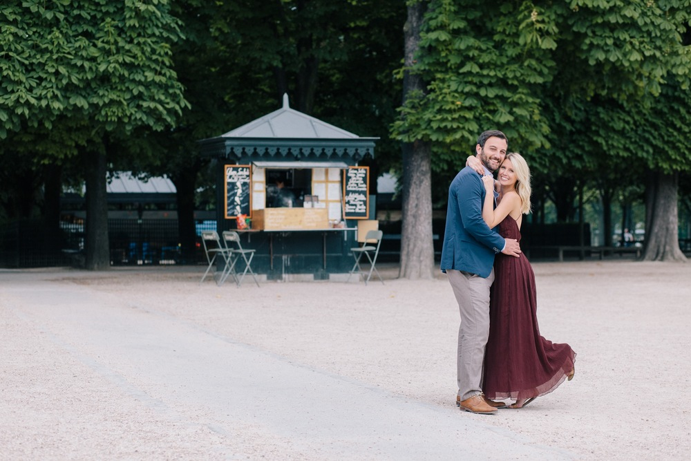 Romantic Jardin du Luxembourg Surprise Proposal