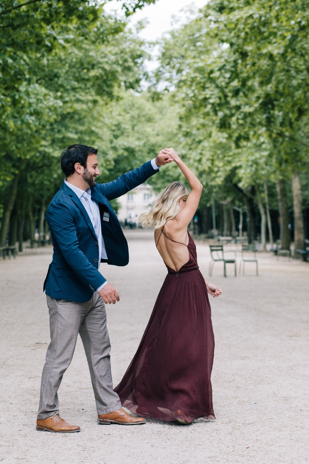 Jardin du Luxembourg Romantic Proposal