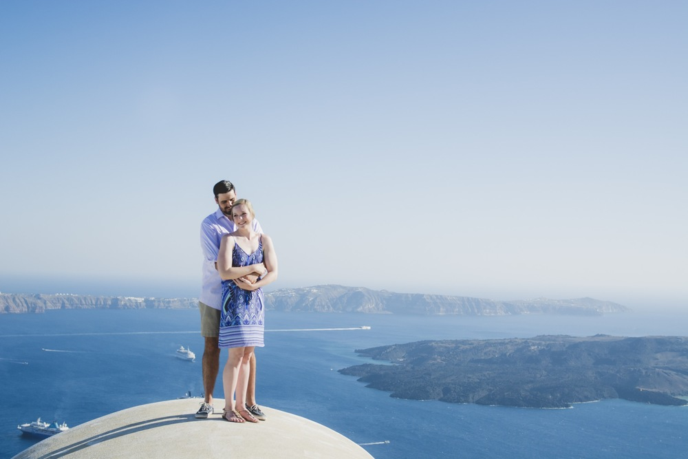 Romantic honeymoon in Santorini