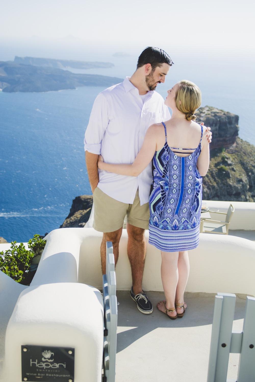 Romantic honeymoon in Santorini