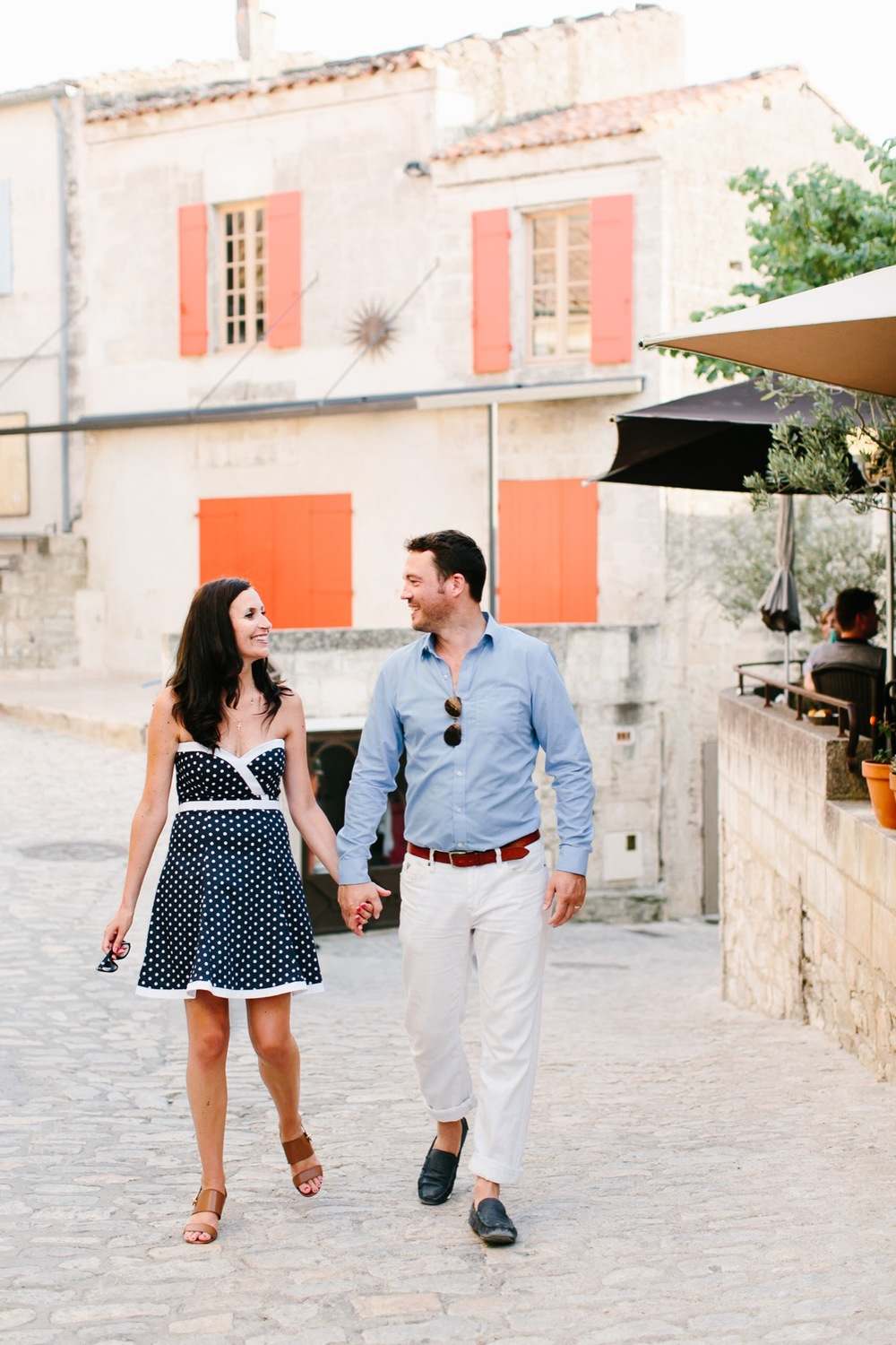couple celebrating anniversary in provence france