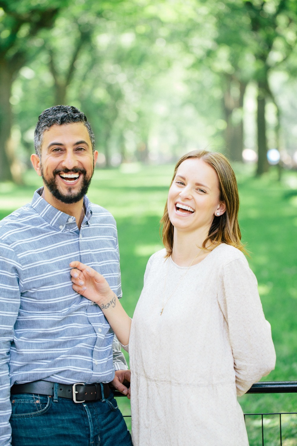 couples travel NYC central park engagement