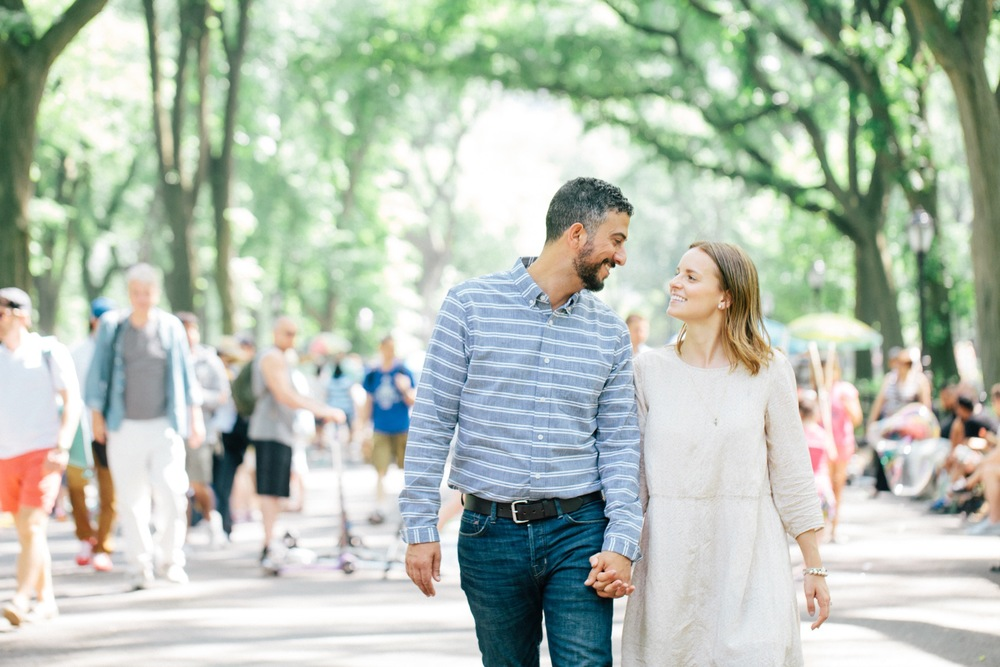 couple walking in central park NYC