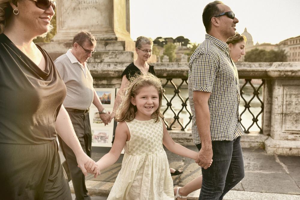family exploring rome