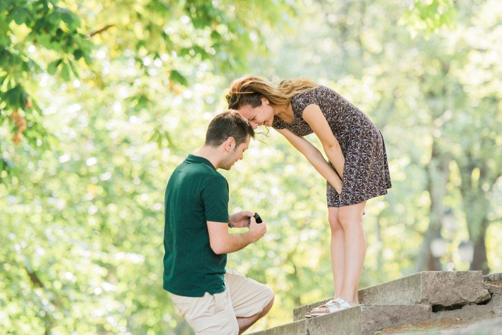 surprise proposal Budapest Flytographer Proposal Photographer