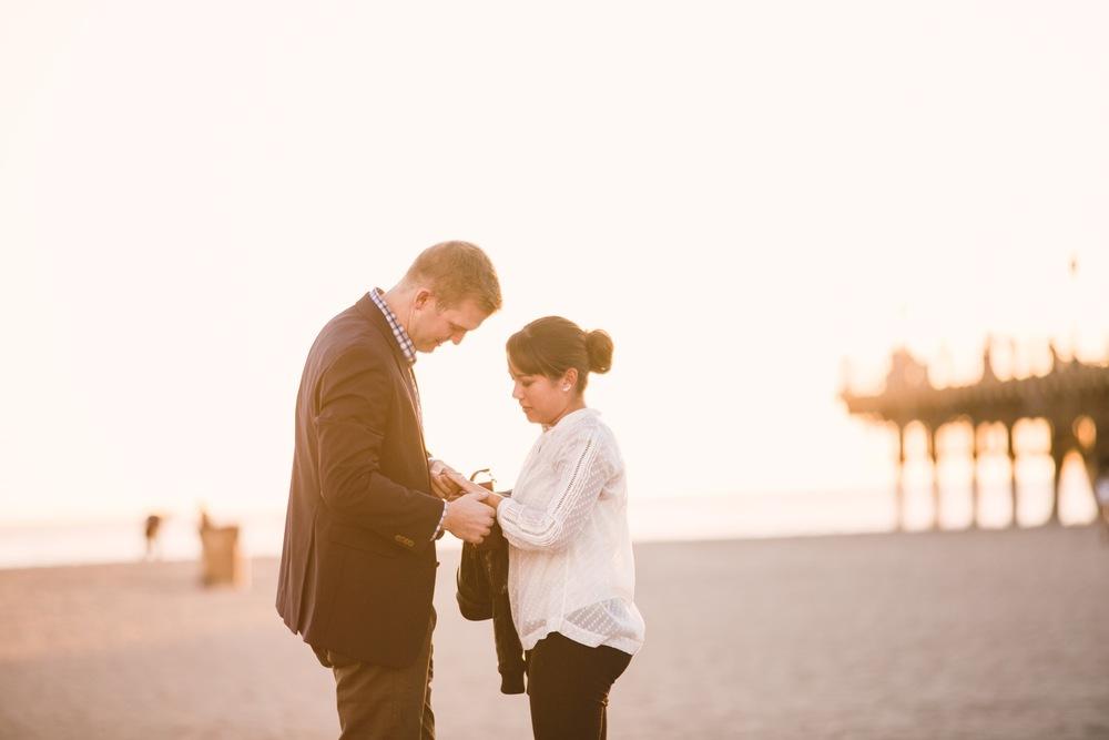 Sunset Santa Monica Pier Surprise Proposal | Los Angeles Proposal Photographer
