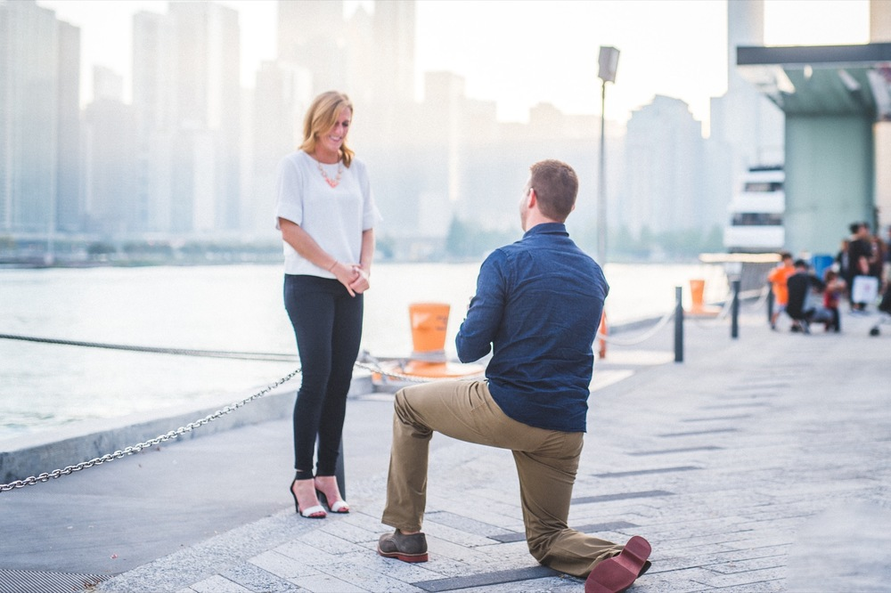 City Skyline Proposal in Chicago | Chicago Proposal Photographer