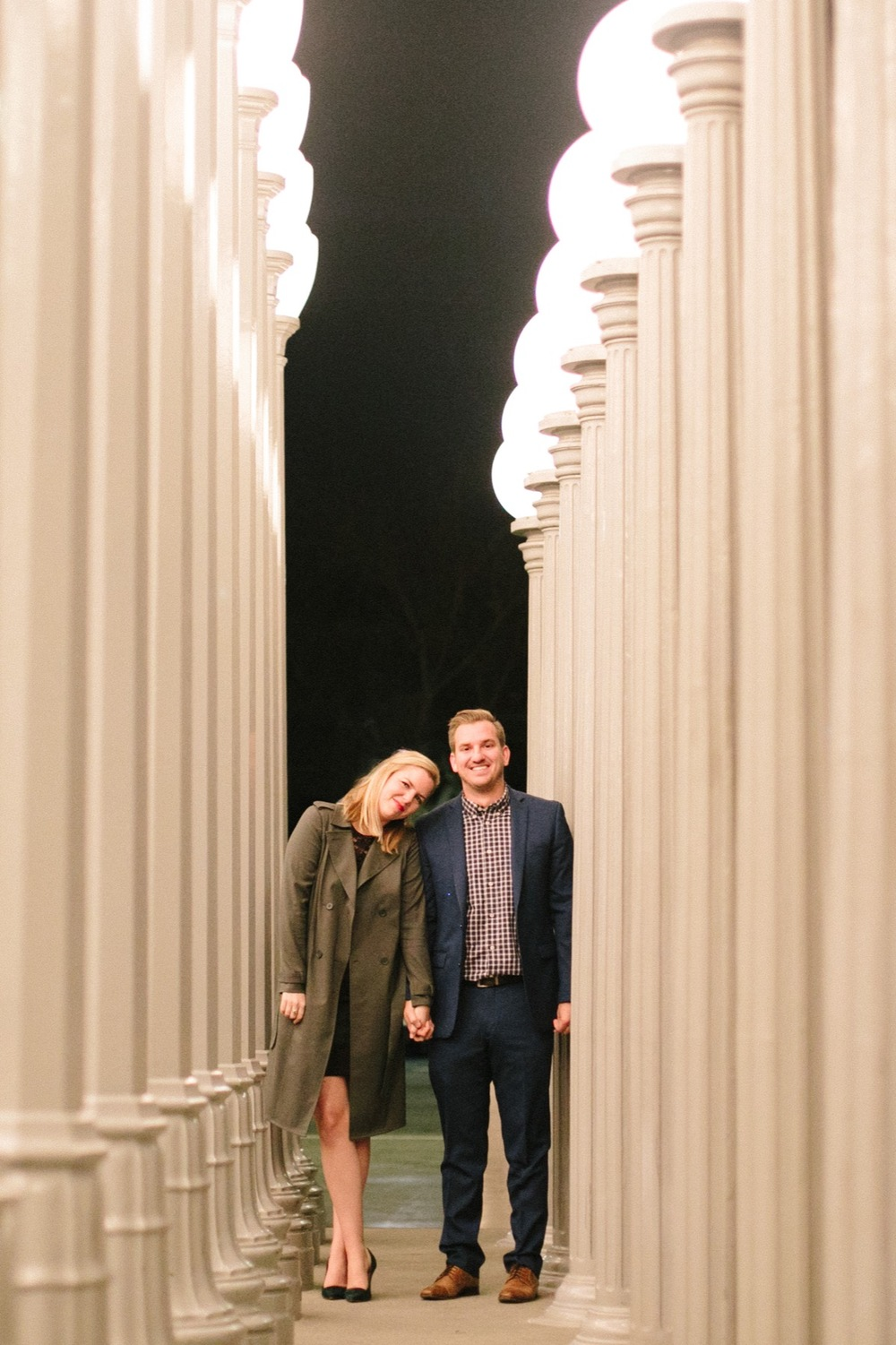 Surprise Proposal at the Lights at LACMA | Los Angeles Proposal Photographer