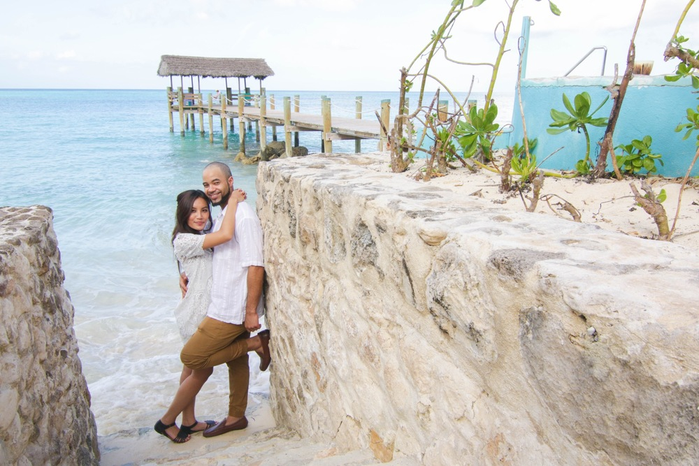 Beach Destination Engagement Photos Bahamas | Bahamas Vacation Photographer Flytographer
