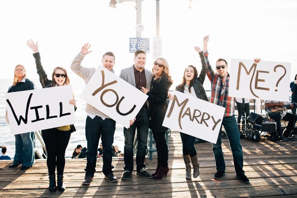 Santa Monica Pier Surprise Proposal | Los Angeles Proposal Photographer Flytographer